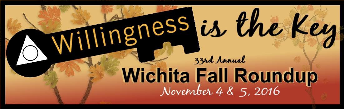 Wichita Fall Roundup Alcoholics Anonymous meeting conference November 2016